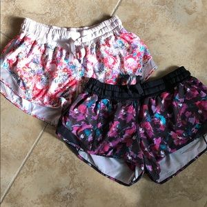 Lululemon floral hotty hot shorts original Sz 6